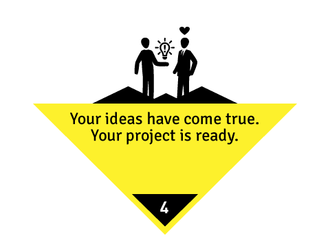 Your ideas hace come true. Your project is ready.